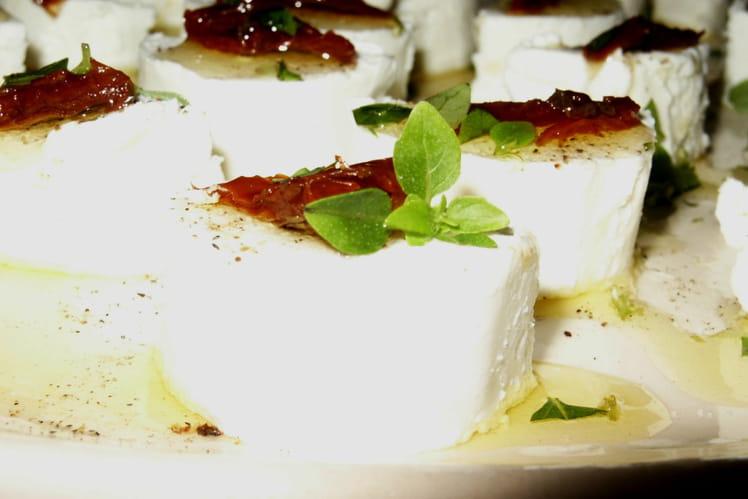 Chèvres frais marinés à l'huile d'olive