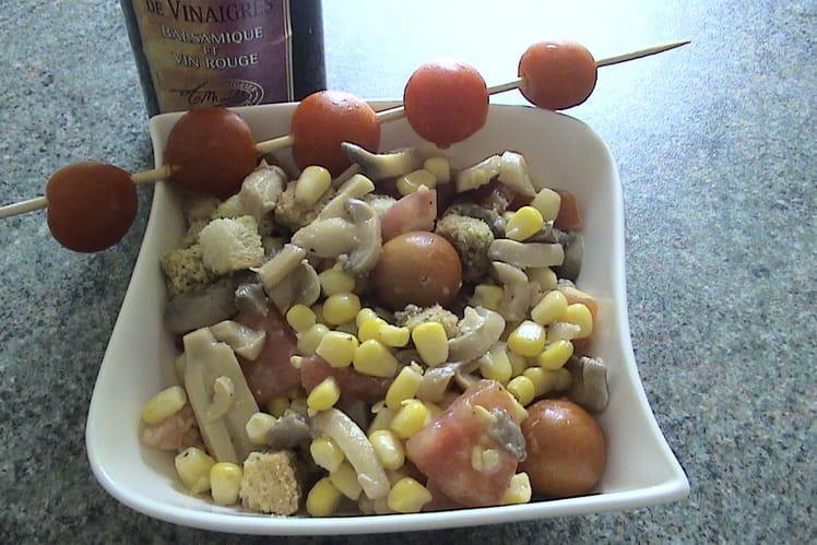 Salade croquante au duo de vinaigre