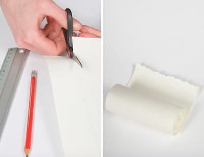 découper un rectangle de papier