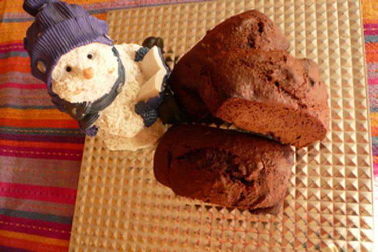 Mini pains d'épices au chocolat et aux noix