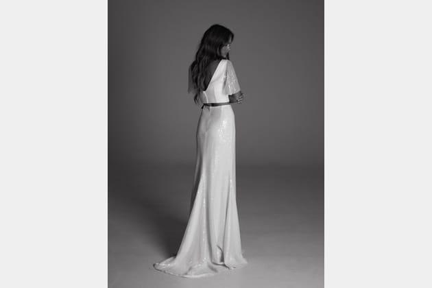 Robe de mariée Aria Silver, de dos