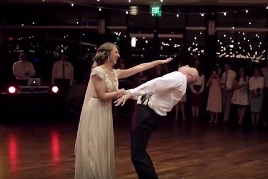 [Vidéo] La danse de mariage endiablée d'un père et de sa fille
