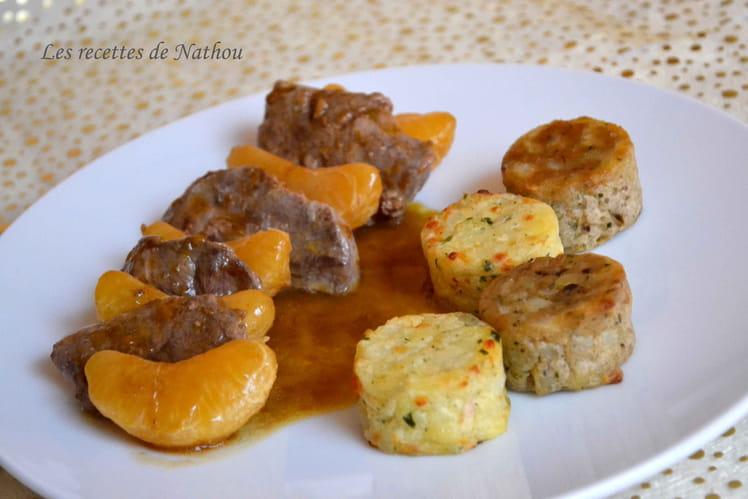 Filets de canard aux mandarines, sauce balsamique