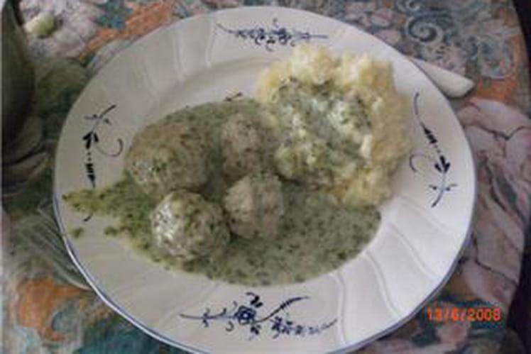 Boulettes sauce blanche