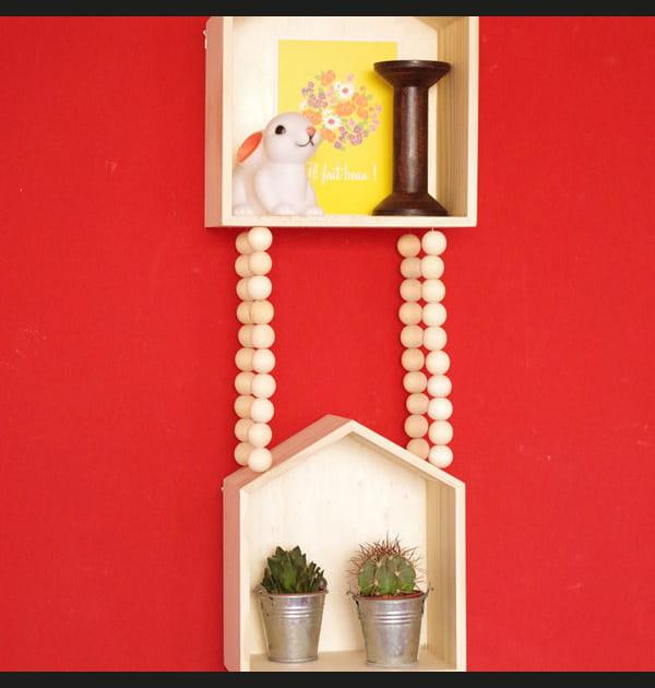 DIY: des mini étagères déco en suspension