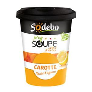 my soupe d'été carotte touche d'agrumes