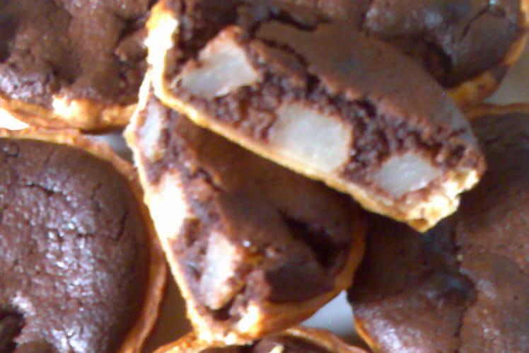 Tartelettes amandines chocolat et poires Williams