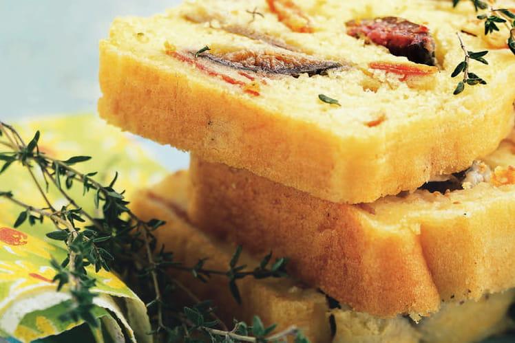 Cake aux figues et au jambon cru