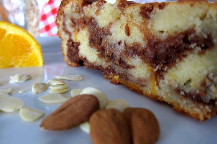 Cake ultra moelleux à l'orange et au nutella