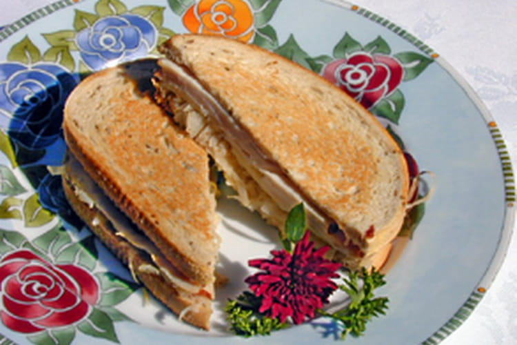 Sandwich à la dinde et au bacon