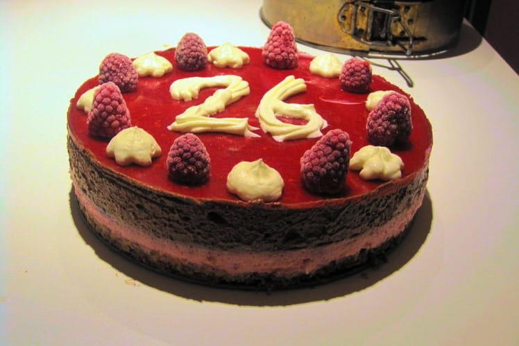 Mousse framboise chocolat