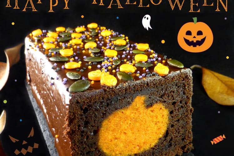 Cake surprise citrouille pour Halloween