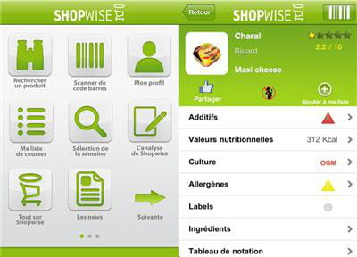 application shopwise.