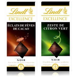 tablettes de chocolat noir de lindt excellence