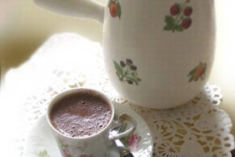 Chocolat chaud légèrement vanillé