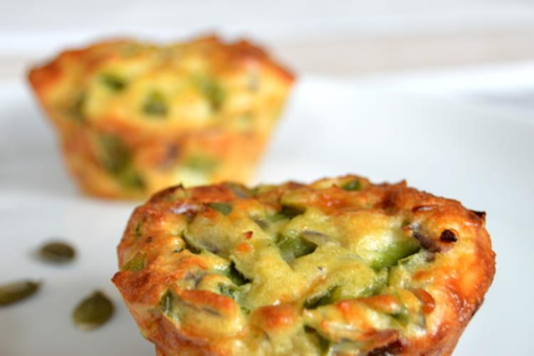 Brunch muffins aux oeufs et poivrons verts