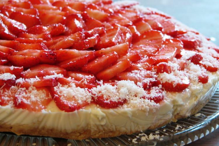 Gâteau aux fraises et fromage blanc