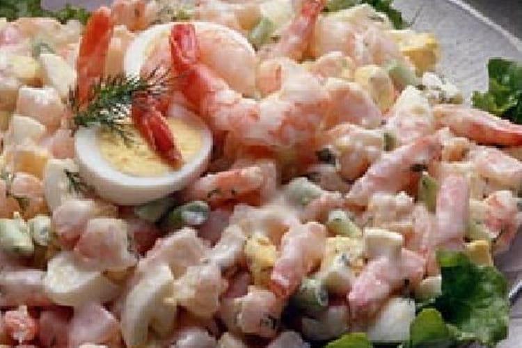 Salade de crevettes à la mayonnaise