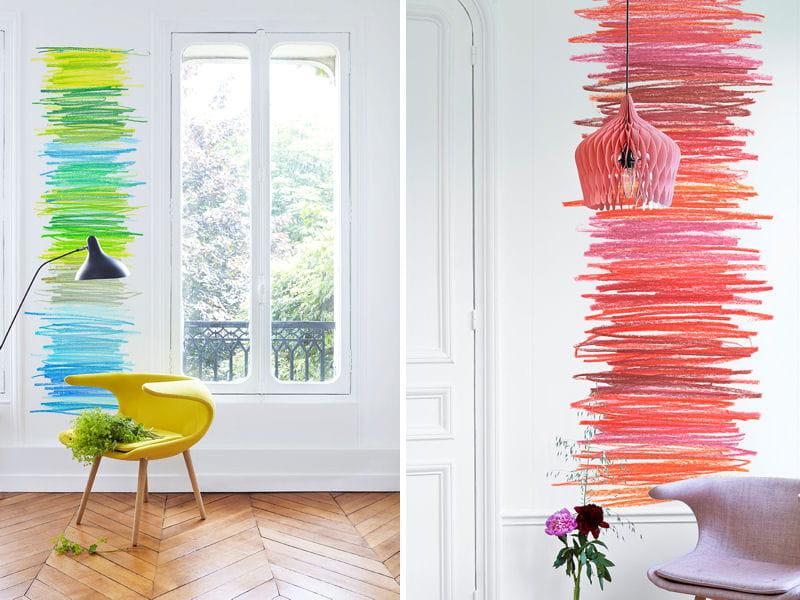 l 39 objet du d sir le papier peint c leste chez maison m. Black Bedroom Furniture Sets. Home Design Ideas