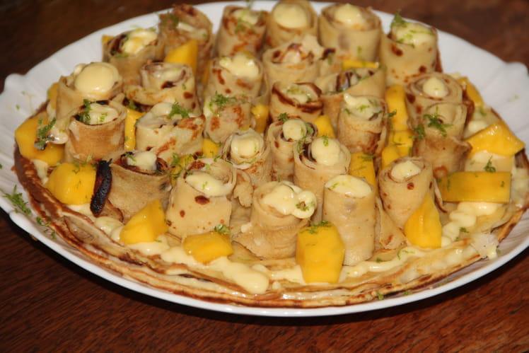 Gâteau de rosettes de crêpes au citron
