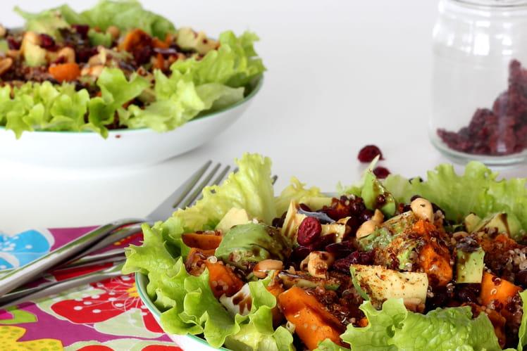 Salade de patate douce quinoa et haricots Azukis