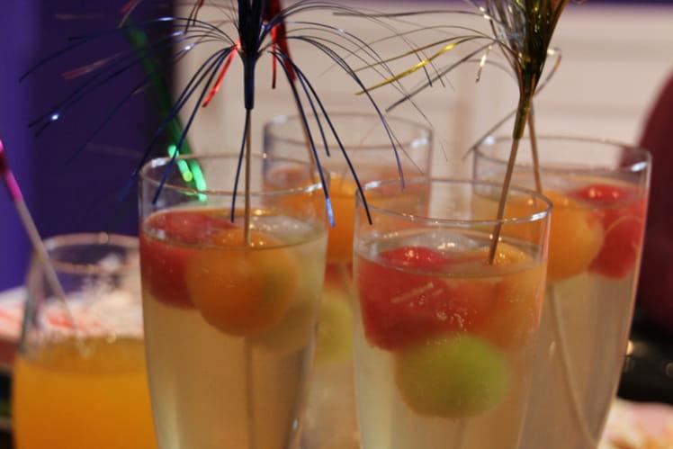 Cocktail au melon et pastèque