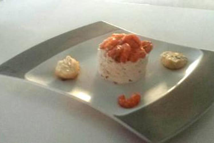 Cheesecake crevettes, romarin et piment d'espelette