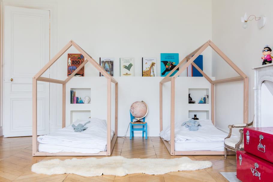 chambre d 39 enfants esprit dortoir pour ma tribu. Black Bedroom Furniture Sets. Home Design Ideas
