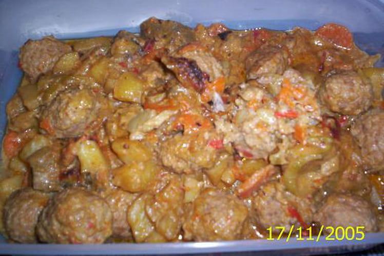 Boulettes de viandes aux légumes