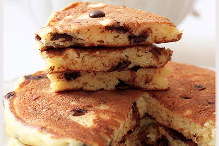 Pancakes ricotta orange chocolat