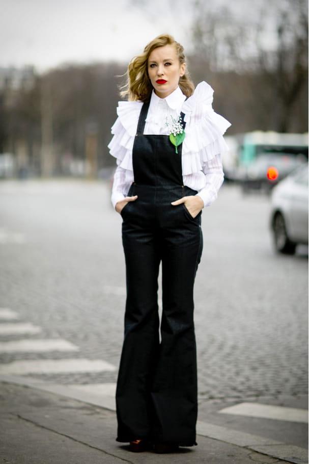 Street style à Paris : la salopette chic