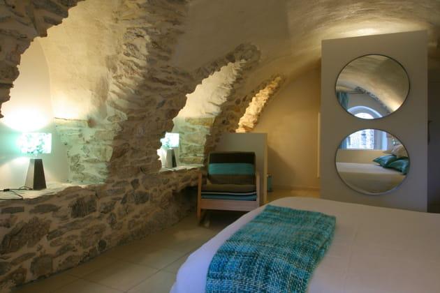 Une chambre à l'ambiance minérale