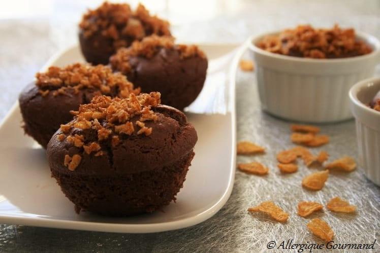 Muffins au chocolat Bio, avec un croquant aux céréales, sans oeufs sans blé sans gluten