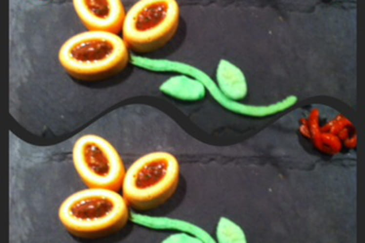 Panna cotta aux poivrons rouges