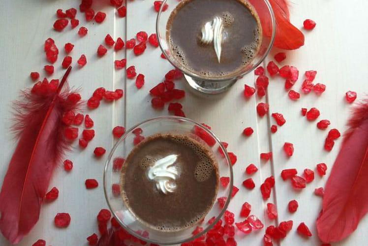 Lait glacé chocolat mascarpone gingembre