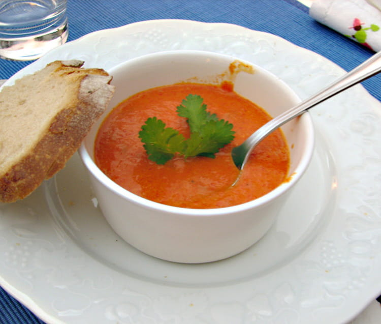 Recette de cr me de poivrons rouges au mascarpone la - Cuisiner avec du mascarpone ...