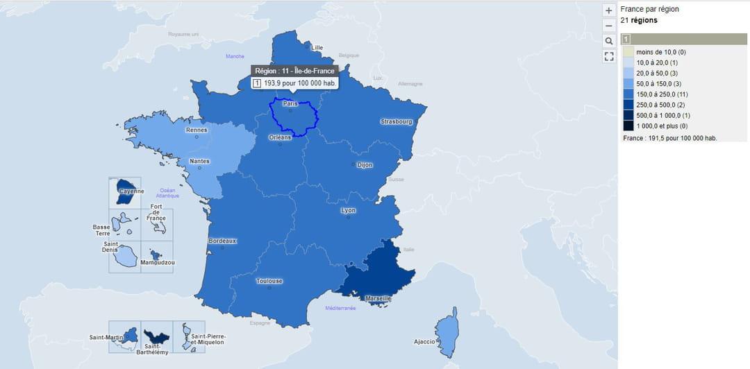 Carte Covid 19 France Zone Rouge Departement Deces Europe