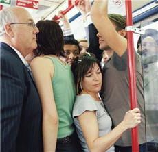 et non, le métro, ça n'est pas drôle, surtout quand on doit respirer sous les