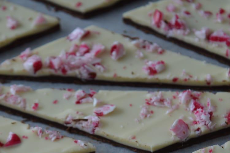Chocolat à la menthe poivrée