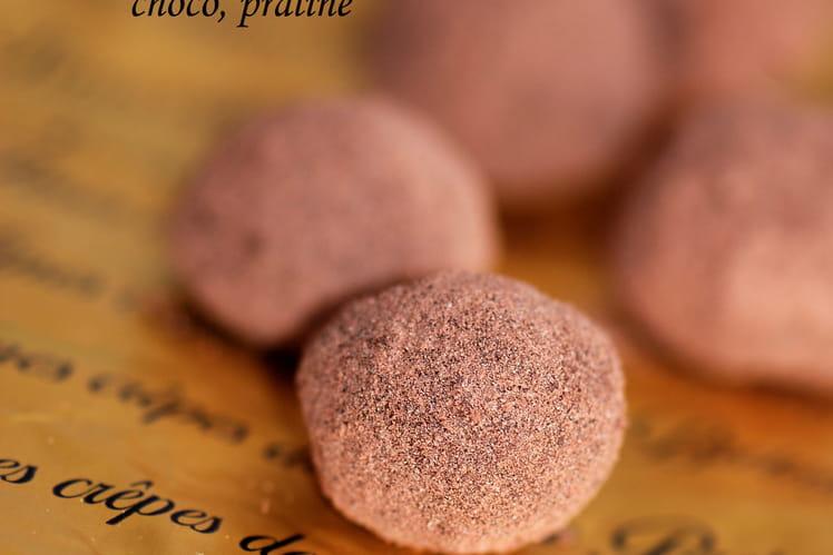 Truffes croustillantes chocolat praliné