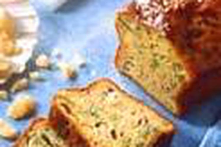 Cake aux Saint-Jacques, poireaux et parmesan