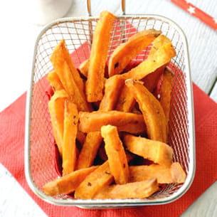 patates douces au four, façon frites
