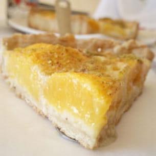 tarte aux pêches, crème d'amande