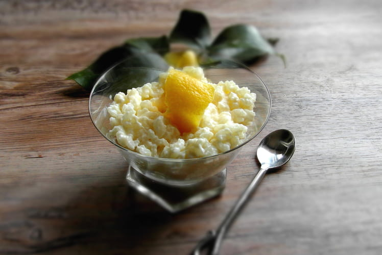 Risotto sucré au citron