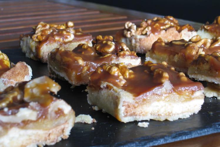 Tarte aux noix, frangipane et caramel au beurre salé