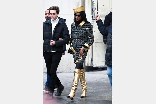 Naomi Campbell au défilé Chanel