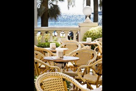La terrasse de L'InterContinental Carlton Cannes