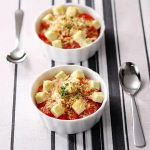 petit gratin à la tomate et au kiri