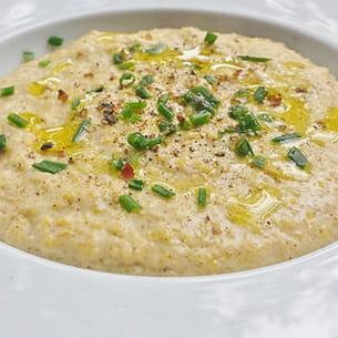 polenta crémeuse aux noisettes