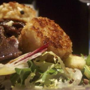salade de gésiers au chèvre chaud